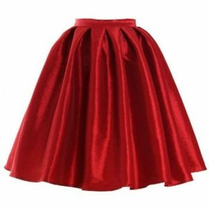 Chicwish Red A-line Midi Skirt